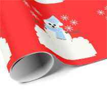 Snowy Snowman II Wrapping Paper