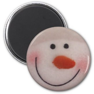 Snowy Snowman magnet