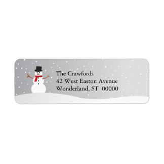 Snowy Snowman Return Address Label