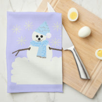 Snowy Snowman Towel