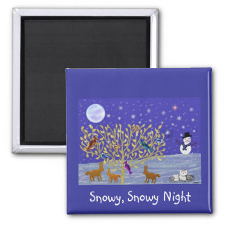 Snowy, Snowy Night Magnets