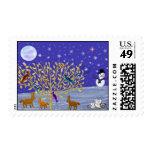 Snowy, Snowy Night Postage Stamps