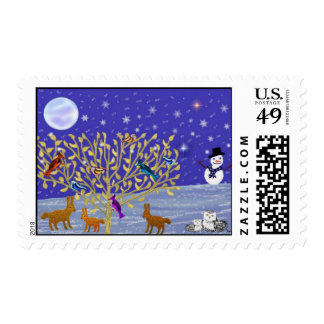 Snowy, Snowy Night Postage Stamps