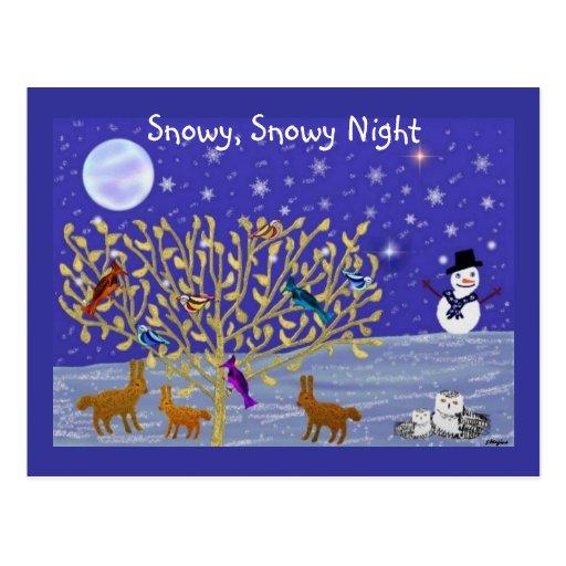 Snowy, Snowy Night Postcards