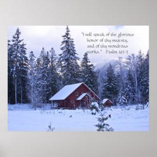 Snowy Splendor Print w/Scripture Verse