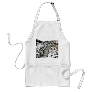 Snowy Staircase Apron