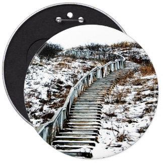 Snowy Staircase Button