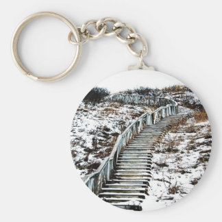 Snowy Staircase Key Chain