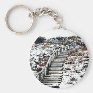 Snowy Staircase Key Chain