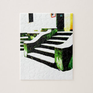 Snowy stairs jigsaw puzzles