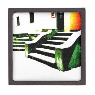 Snowy stairs premium keepsake boxes