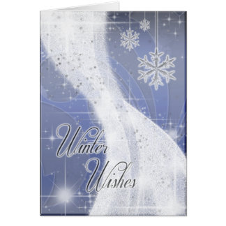 Snowy Star Ribbon periwinkle Cards