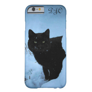 Snowy Staring Black Cat Barely There iPhone 6 Case