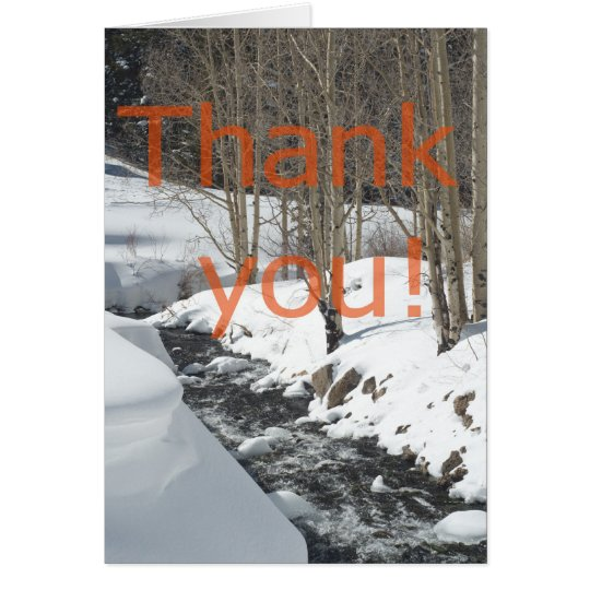 Snowy Stream Christmas Gift Thank You Card