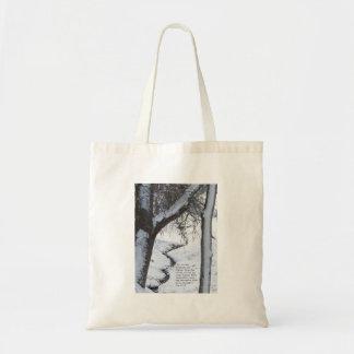 Snowy Stream Tote Bag