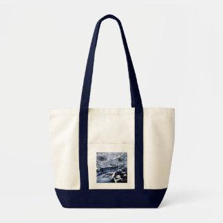 Snowy Stream - Tote Bag