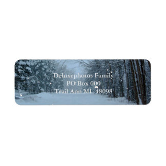 Snowy Street Label