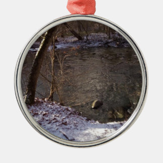 Snowy Sugar Creek Metal Ornament