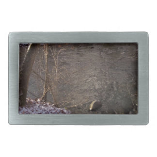 Snowy Sugar Creek Rectangular Belt Buckle