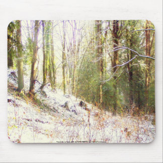 Snowy Sunlit Forest Glade #2 Mouse Pad