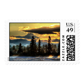 Snowy sunrise by Mt Hood Stamp