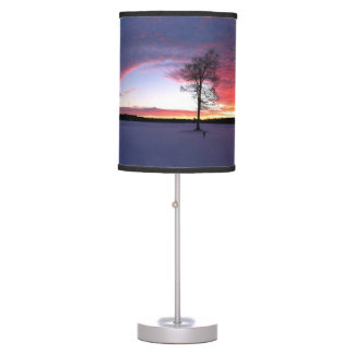 Snowy Sunrise Desk Lamp