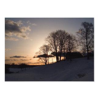 Snowy Sunset Card