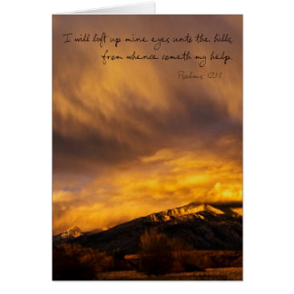 Snowy Sunset over Mountains Card
