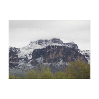 Snowy Superstition Mountains Canvas Print
