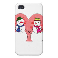 Snowy Sweethearts Cover For iPhone 4
