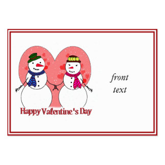 Snowy Sweethearts - Happy Valentine's Day Business Card