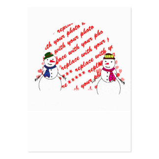 Snowy Sweethearts Photo Frame Business Card Templates