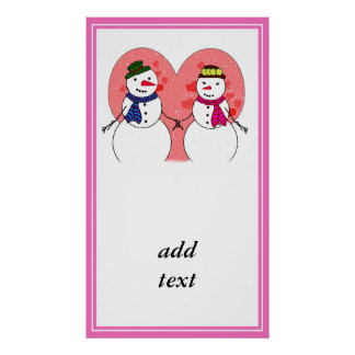 Snowy Sweethearts Poster