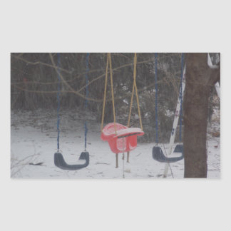 snowy swingset stickers