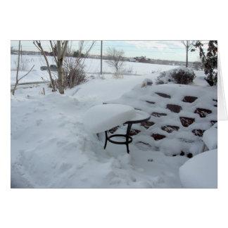Snowy Tabletop Card