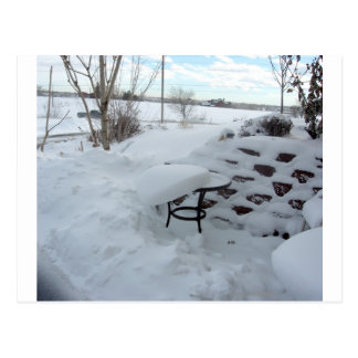 Snowy Tabletop Postcard
