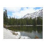 Snowy Tenaya Lake Yosemite National Park Photo Canvas Print