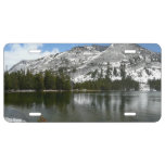 Snowy Tenaya Lake Yosemite National Park Photo License Plate