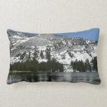 Snowy Tenaya Lake Yosemite National Park Photo Lumbar Pillow