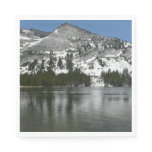 Snowy Tenaya Lake Yosemite National Park Photo Paper Napkin