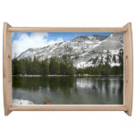 Snowy Tenaya Lake Yosemite National Park Photo Serving Tray