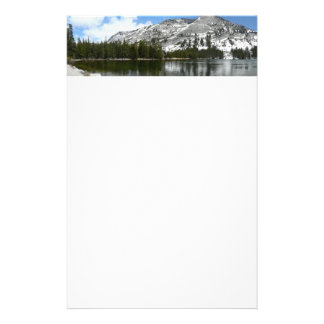 Snowy Tenaya Lake Yosemite National Park Photo Stationery