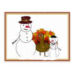 Snowy Thanksgiving Postcard