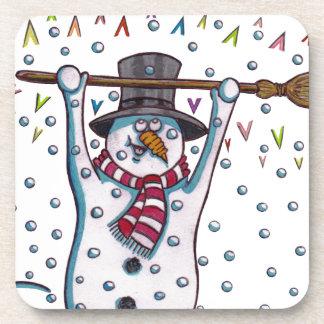 Snowy the Snowman Beverage Coaster