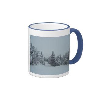 Snowy Trail Ringer Coffee Mug