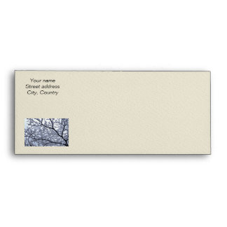 Snowy tree envelope
