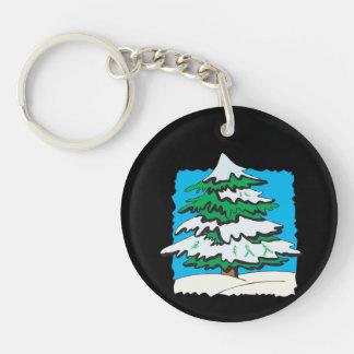 Snowy Tree Keychain