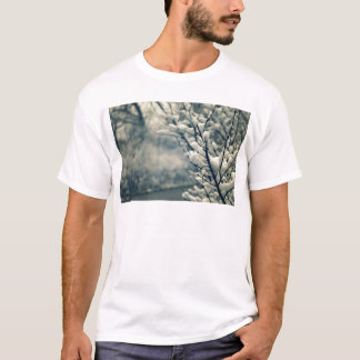 Snowy Tree Mouse Pad T-Shirt