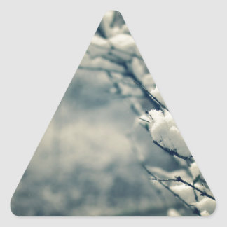 Snowy Tree Mouse Pad Triangle Sticker
