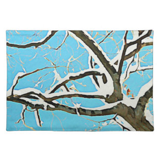 Snowy Tree Placemats